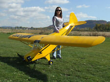 33 % Scale Piper Cub, 12 ft  Giant Scale RC AIrplane Printed Plans