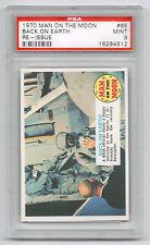 1970 Topps Man on the Moon #65, PSA 9 Mint, NASA Back on Earth