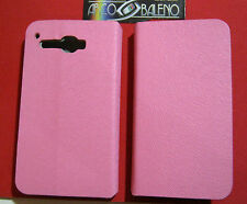 Custodia Cover ECO PELLE Per ALCATEL OT X'POP 5035D ROSA Stand Case ONE TOUCH