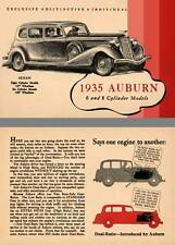 Auburn 1935 - 1935 Auburn 6 and 8 Cylinder Models