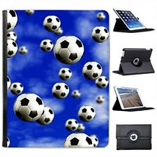 It's Raining Footballs Soccer Balls For Apple IPad 2, 3 And 4 Faux Leather Case
