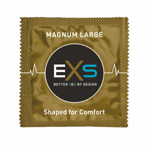 EXS Condoms Magnum (Extra Large Size) Extra Lubricated Great Feel UK