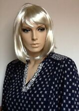 Light Blonde Bob, Female Fancy Dress Wig. UK Dispatch