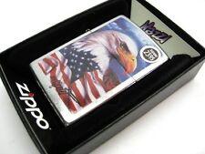 ZIPPO Street Chrome MAZZI American Flag & Eagle Windproof Lighter! 24764