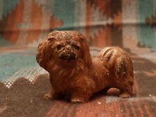 Vintage Hubley Pekingese Cast Iron Figurine Dog Card Holder Paperweight
