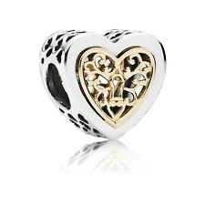Pandora 925  Silver Locked Love Openwork Charm heart  791524CZ