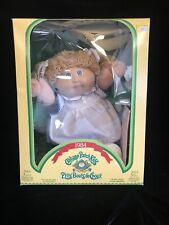 Vintage 1984 Cabbage Patch Kids Doll #3908 Light Brown Braids Green Eyes
