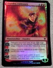 Carte Magic Mtg Chandra Embrasée Mythique Foil / Premium Française / Vf Zendikar