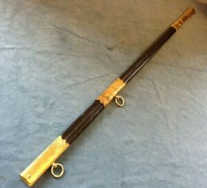 Wilkinson British Royal Navy Officers Sword Scabbard Gold Plated