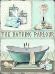 BATHING PARLOUR DUCK EGG BLUE GIFT,SIZE S,M,L,STEEL WALL PLAQUE METAL TIN SIGN