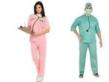 Rubies ER Doctor & Nurse Blue Pink Scrubs His & Hers Halloween Costumes One Size