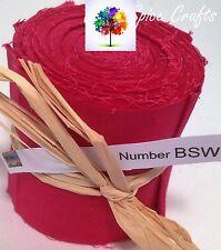 "10 X 2.5""x 45"" Bright Dark Pink Jelly Roll quilting binding BSW FREEPOST AU"