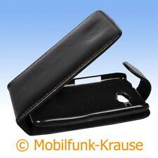 Flip Case Etui Handytasche Tasche Hülle f. HTC Wildfire (Schwarz)
