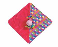 PLAYGRO Clopette Mini Comforter Horse Pink w/ Patterns Lovey Security Blanket