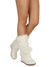 Women Winter Pom Pom Fur Eskimo Mid-Calf Boot 19190
