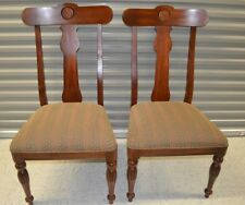 """Ethan Allen British Classics Dining Side Chairs Two Maple #29-6400 #260 Set """"A"""""""