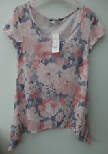 NWT New Look Floral Hanky T-Shirt Top/Tunic Size 10