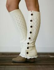Leg Warmers, Knitted Leg Warmers, Leg Warmer Set, Stocking Stuffer - IVORY