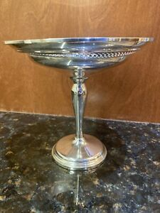 """Vintage Sterling Silver Revere Silversmith Weighted 7"""" Footed Compote"""
