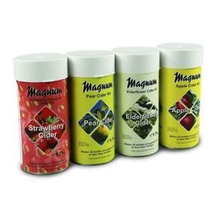 Best Magnum home brew cider kits | Elderflower, Strawberry, Pear, Apple Cider