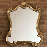 """Vintage Mirror 26 x 34"""" Gold Hollywood Regency framed antique Gilt baroque"""