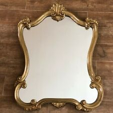 "Vintage Mirror 26 x 34"" Gold Hollywood Regency framed antique Gilt baroque"
