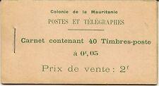FRENCH MAURITANIA BOOKLETS 1913 2F MERCHANTS SB1