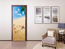 3D Beach Starfish Self-adhesive Door Sticker Decal Waterproof Mural Wallpaper