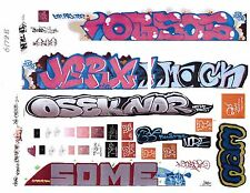 G SCALE GRAFFITI DECALS G18 FROM REAL GRAFFITI PHOTOS