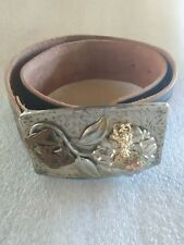 BRAVE LADIES LEATHER BELT FLOWER BIRD SPAIN BUCKLE