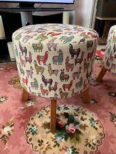 Reupholstered Stool/ Footstool