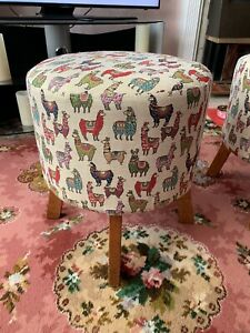 Reupholstered Stool/ Footstool