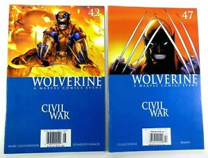 Marvel WOLVERINE (2003) #42 + #47 Civil War Rare NEWSSTAND UPC Lot SHIPS FREE!
