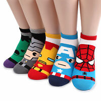Free shipping (5 Pairs) Marvel Avengers Socks Boys Kids Infinity War Costume CK