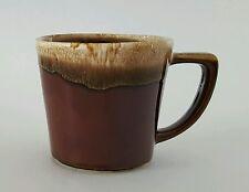 "McCoy USA Pottery Coffee Cup Brown Drip Glaze 3 1/4"" Vintage Retro Kitchen"