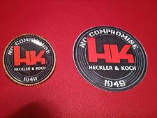 HECKLER & KOCH GUNS  ` 1948`:  GOLD PLATED  BADGE &  FREE H&K   STICKER