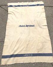 Vintage Us Navy Medical Department Blanket