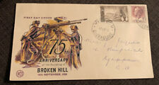 1958 75th Anniversary Of Broken Hill Fdc Wcs Wesley Yeppoon Qld