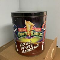 Vintage 1994 Power Rangers Mighty Morphin Metal Tin Can With Top