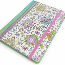 Collins - Colour Your Days - 5x7 Notebook - With Ruled Lines and Pages to Colour