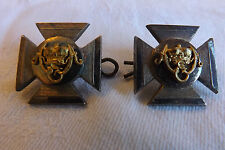 Victorian Military Pair Of Wiltshire Silver Collar Dogs Badges J.R.Gaunt (2169)