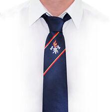 Krawatte Feuerwehr dunkelblau Emblem und Zierstreifen gewebt Feuerwehrkrawatte