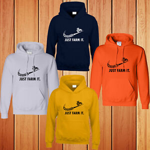 Tractor Farming Mens Hoodies Funny Hooded Driver Just Farm It Kids Gift Hoody