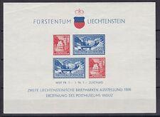Liechtenstein 1936 postfrisch MiNr. Block 2   links oben bügig