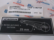 NEW, GENUINE CAGIVA CHAIN GUARD DECAL, CANYON 500 600, 800084811