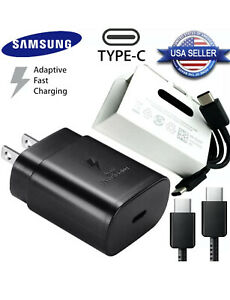 Original Samsung 25W Super Fast Charger With Cable For Galaxy S21 Ultra  S21+ 5G