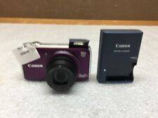 Canon PowerShot SX220 HS 12.1 MP 14x Zoom Digital Camera Purple 1080p Video