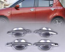 Chrome Door Handle Cover + Cup Bowl Fit For Suzuki Swift 2005-2010 Grand Vitara