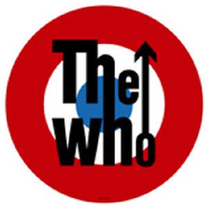 THE WHO LOGO  SEW ON MADE IN ENGLAND UNDER LICENSE SCREEN PRINTED
