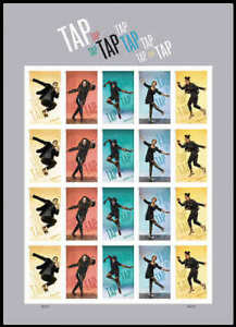 5609a-13a 5609a-5613a Tap Dance Imperf Sheet / Pane of  20 VF NH MNH
